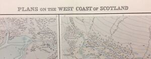 ADMIRALTY SEA CHART. LOCHS A'CHOIRE & ALINE.No.3608. SCOTLAND - W. Cst.1925-53.