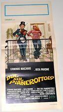 LOCANDINA ORIGINALE DEL FILM DUE SUL PIANEROTTOLO 1976