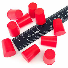 "(25) 5/8"" x 3/4"" #2 High Temp Silicone Rubber Plugs Powder Coating Paint Stopper"