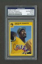 Cecilio Guante signed Pittsburgh Pirates 1985 Fleer baseball card Psa slabbed