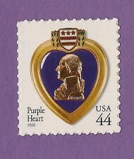4390 Purple Heart 2009 MNH Combat Wounded Medal Single 44c