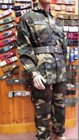 Completo mimetico woodland originale Esercito Italiano Giacca e pantalone NUOVO
