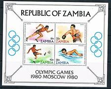 Zambia 1980 Olympic Games MS SG 315 MNH