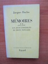 MEMOIRES Tome 2 : 1935-1939 : AUX JOURS ENSOLEILLES DU FRONT POPULAIRE