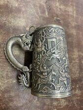 346.91 GRAMS CHINESE EXPORT SILVER TANKARD