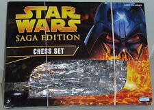 STAR WARS Saga Edition Chess Set LucasFilm/Hasbro 2004 *100% Complete*