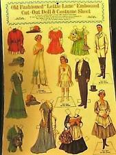 Vintage Repro Paper Doll ~ Lettie Lane 4 Dolls & 8 Costumes NIP ~ FREE SHIPPING
