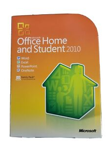Genuine Microsoft Office 2010 Home and Student Family Pack for 3 PCs RETAIL Box