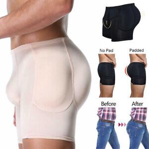 Mens Padded Enhancing Underwear Shapewear Butt Lifter Boxer Briefs Trunks Shaper