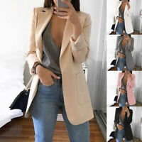Women Casual Slim Business Blazer Suit Coat Cardigan Jacket Coat Lapel Outwear