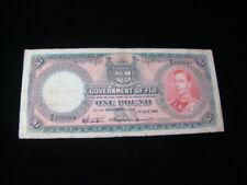Fiji 1940 1 Pound Banknote Vg+ Pick #39c
