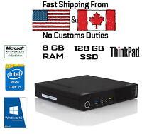 Lenovo ThinkCentre M93p USFF Tiny, i5-4570T, 8GB RAM, 128GB SSD, HDMI,Win10Pro