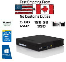 Lenovo ThinkCentre M93p USFF Tiny, i5-4570T, 8GB RAM, 128GB SSD, HDMI,Win10Pro