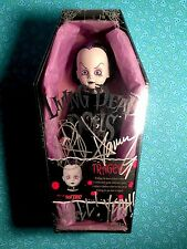 Living Dead Dolls TRAGEDY PURPLE TISSUE - Hot Topic - DOUBLE SIGNED & SEALED