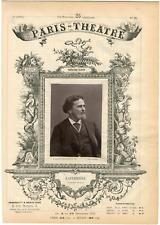 Lemercier, Paris-Théâtre, Laferrière, artiste Vintage albumen Print Tirage a
