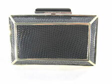 BCBGMAXAZRIA  WOMEN'S JONI 0FK377EP FASHION CLUTCH HANDBAG, BLACK, ONE SIZE