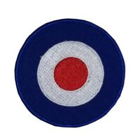 Mod Traget Embroidered Iron On Patch Red/White/Blue Scooter RAF Roundel Bullseye