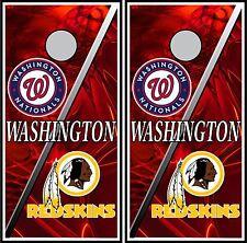 Washington Nationals & Redskins 0247 cornhole board vinyl wraps stickers posters