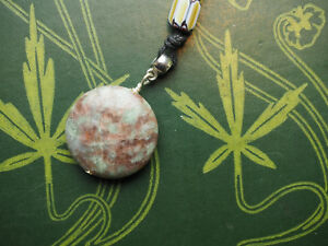 Ruby in Zoisite Gemstone Pendant On Cord - Pagan, Wicca, Witchcraft, Crystal