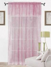 Elegant Warp Knitting Lace Sheer Curtain With Valance 152cm x 228cm + 45cm--Rose