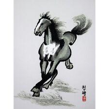 Chinesisches Bild - Pferd, Stickbild, Stoffbild, Stickkunst China, Stickerei