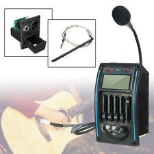 5-Band ecualizador Ecualizador Preamplificador De Guitarra Acústica Piezo Pickup Amplificador Sintonizador LCD + Mic