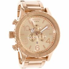 New Authentic NIXON Watch Mens 51-30 CHRONO ALL Rose Gold A083897 A083-897
