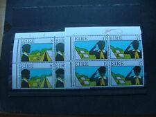 Ireland 1977 Scouting & Guiding Issue SG409-410 UM/MNH Corner Marginal Blocks x4