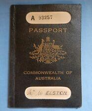 EARLY COMMONWEALTH OF AUSTRALIA PASSPORT 1929