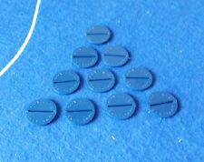 Subbuteo/Santiago. Set of 10 SANTIAGO HEAVYWEIGHT DISCS.....NAVY BLUE.