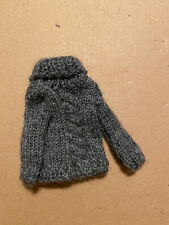 Blythe Doll Handmade Grey Cable Sweater
