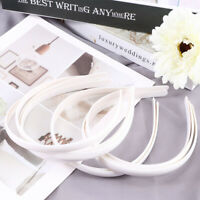 10X White No Teeth Plastic Plain Hair Bands Headbands Accessories UK
