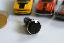 Einbauschalter rastend Schalter Druckschalter 16 mm max 250V / 3A Switch Schwarz