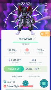Pokemon Trade GO - Armored Mewtwo for Ultra League
