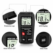 MT10 Digital Wood Moisture Meter Detector 2 Pins Wood Humidity Portable Tester G