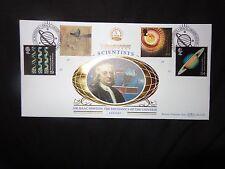 GB STAMPS 1999 ISAAC NEWTON MILLENNIUM FIRST DAY COVER FROM LTD EDN BENHAM SILK