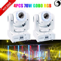 Moving Head Stage Lighting 70W RGBW LED DJ DMX Beam Bar Disco Club Party Lights