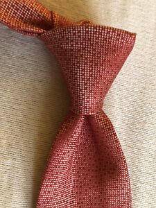 Charvet Tie Red And Silver NWT NEW