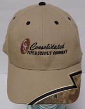 Consolidated Pipe & Supply Utility Industrial Oil Gas Power Advertising Hat Cap