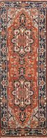 "Geometric Traditional Oriental Hand-knotted Runner Rug Wool 2' 6""x7' 10"" Carpet"