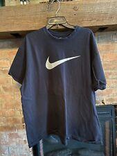 Nike Men's Loose Fit T-Shirt XXL All Black Comfy Classic Big Logo