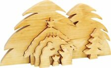 3 D Crib Bethlehem Wood Nativity Decoration Christmas Crib Christmas