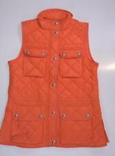 Ralph Lauren Women's Quilted Vest size Medium Modern Orange Jacket