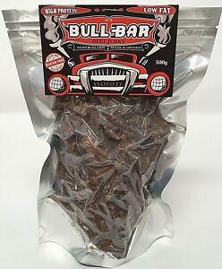 Australian Bullbar Beef Jerky 500g bulk Original healthy handcrafted protein