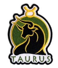 Taurus embroidered Patch Astrological Symbol for Taurus iron on patch