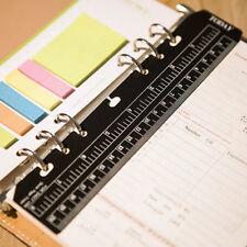 New Filofax A5 Size Black Ruler Page Marker Insert Organiser Flexible Ruler