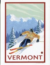 POST CARD OF VINTAGE TRAVEL POSTER FOR VERMONT REPRODUCTION