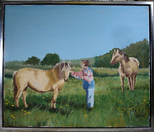 ERIK BRONS! FARMER WOMAN WITH HORSES. NO RES.