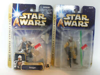 2004 Star Wars Empire Strikes Back Dengar & Bossk on Opened Cards INCOMPLETE