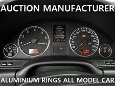 Audi A8 D2 1994-2004 Chrome Gauge Trim Dial Rings Polished Alloy New x4